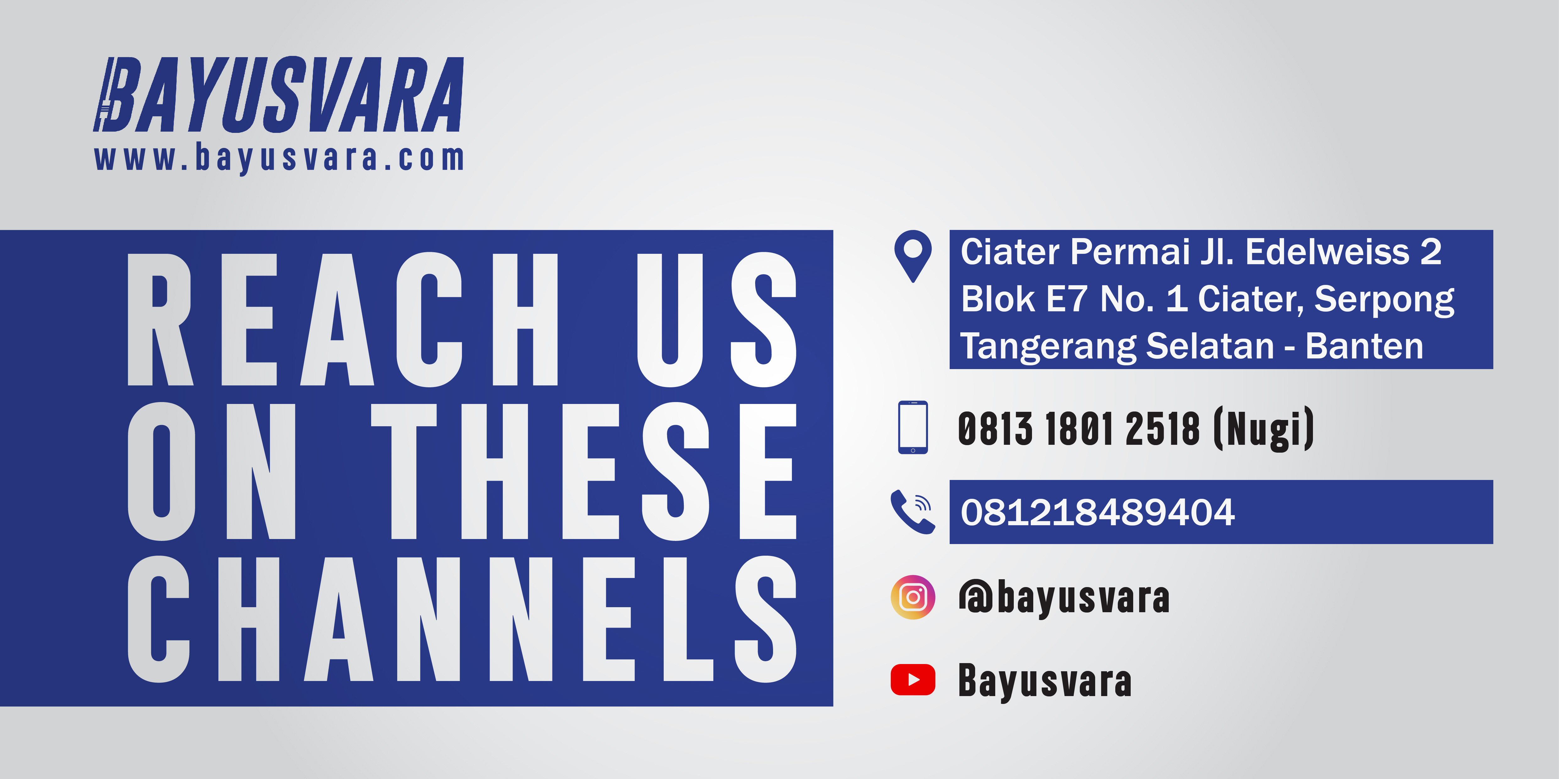 Reach Us in A Way You Enjoy the Most.